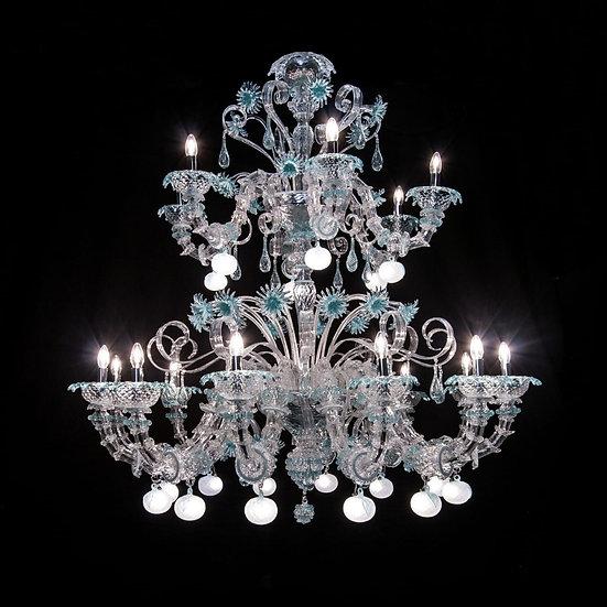 Suspension LED En Verre 'Murano' Fait Main'Tiffany Apple' 18 x E14