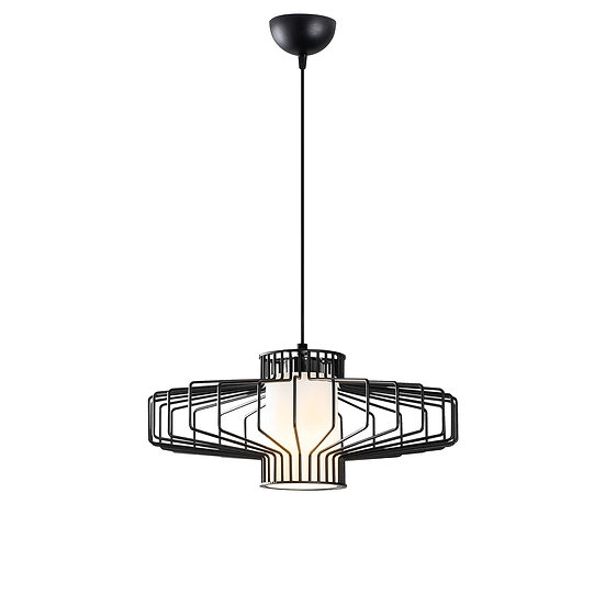 Suspension LED 'Gabaston'Noir 1 x E27