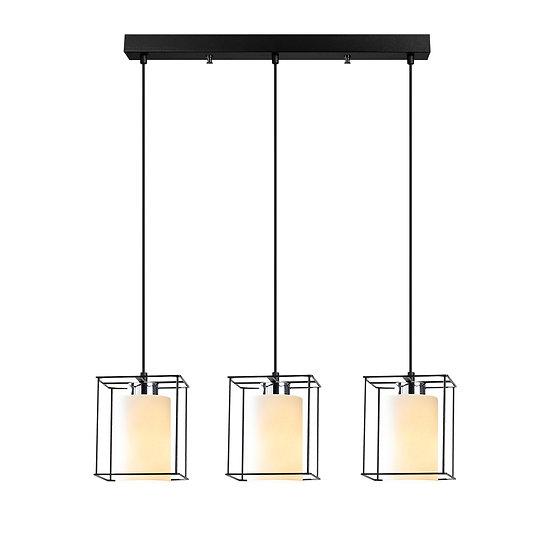 Suspension LED 'Coublucq 02'Noir 3 x E27