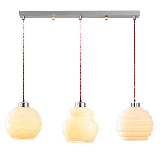 Suspension LED 'Goès 01'Argent 3 x E27