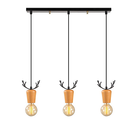 Suspension LED 'Estevelles' 949' Noir 3 xE27