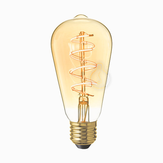 Ampoule LED E27 'Hauteville' ambré Dimmable