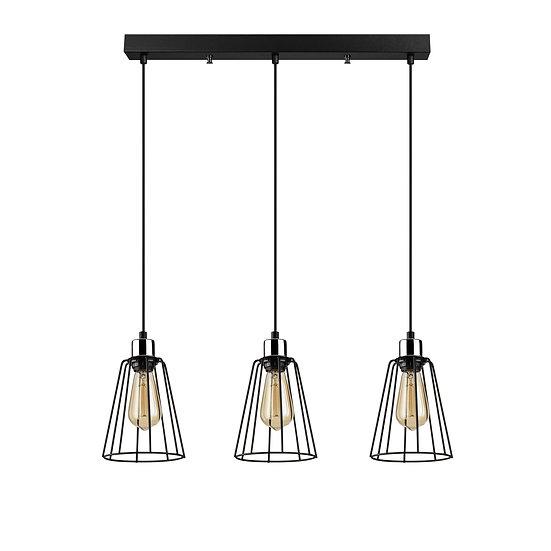 Suspension LED 'Hectomare'12 Noir 3 x E27