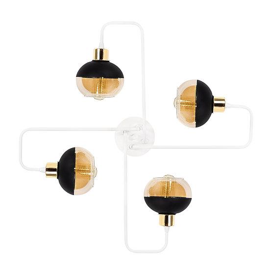Suspension LED 'Géronce'Blanc/Or 4 x E27