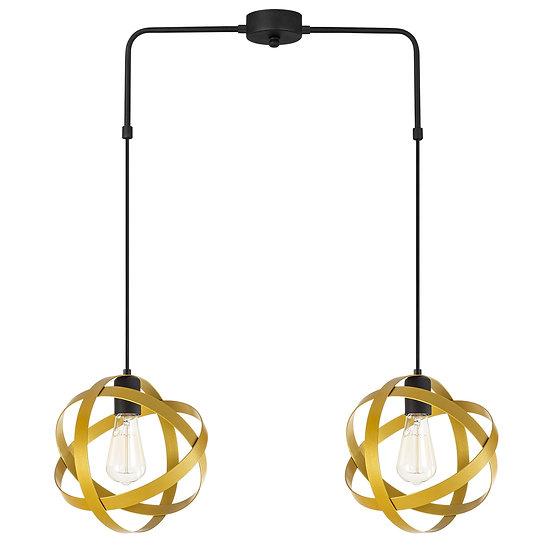 Suspension LED 'Guemps 6151'Noir/Or 2 xE27