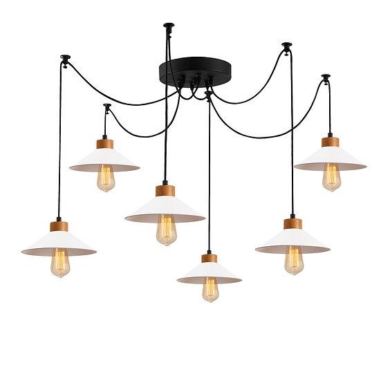 Suspension LED 'Hagetaubin'Blanc 6 x E27