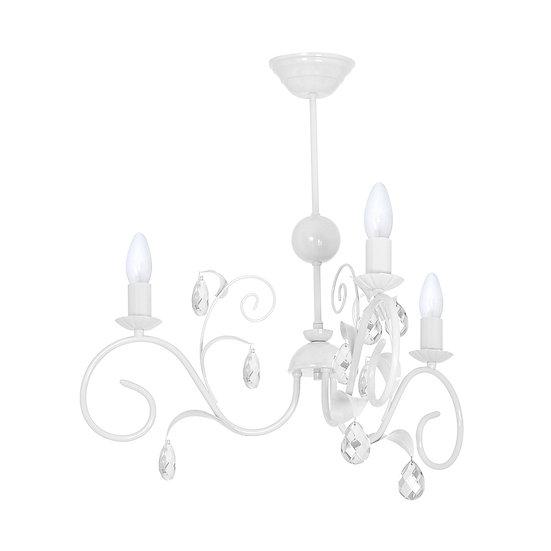 Suspension LED 'Champosoult' 3 xE14 Métal +Verre Sans Ampoule