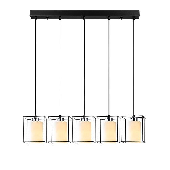 Suspension LED 'Coublucq 04'Noir 5 x E27