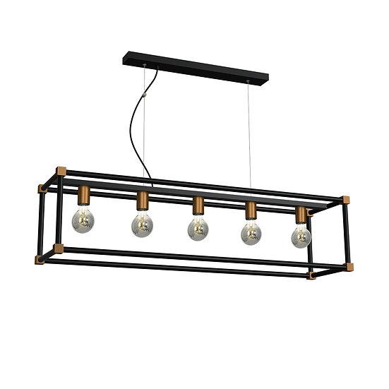 Suspension LED 'Ciral' 5 xE27 Métal Sans Ampoule