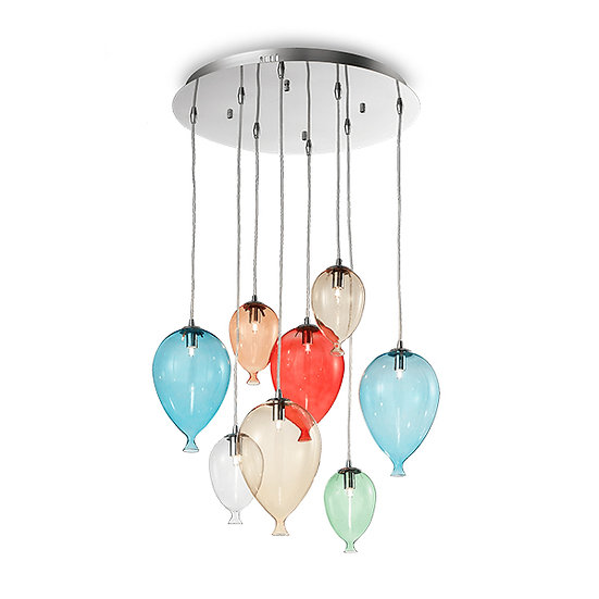 Suspension LED 'Francheville' 8 xG9 Ampoules Fourni