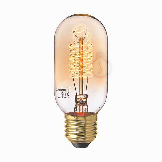 Ampoule E27 'Heudebouville' Filament Carbone ambre Dimmable Blanc Chaud