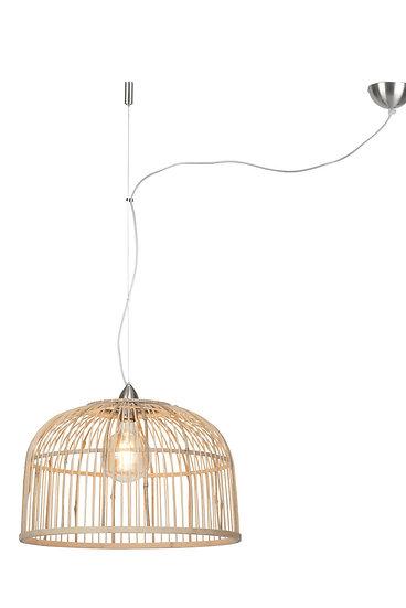 Suspension LED 'Gonnetot' Bambou Rond Ø52x32cm/1 Abat Jour
