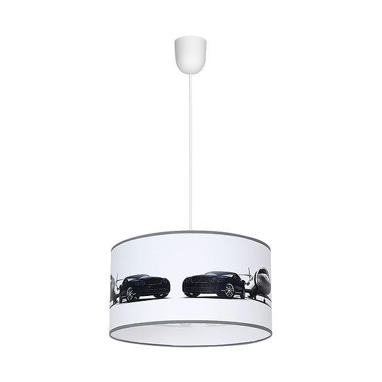 Suspension LED 'Doudeauville' 1 xE27 Métal + PVC Sans Ampoule