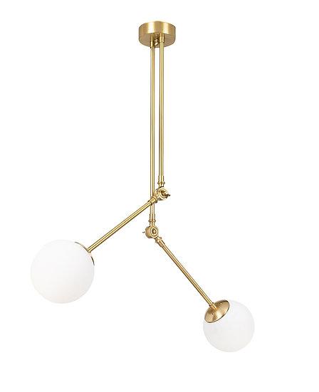 Suspension LED 'Cessales'Or/Blanc Neutre 2 x E27