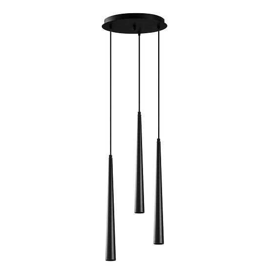Suspension LED 'Guigny'Noir 3 x 3W 2700K