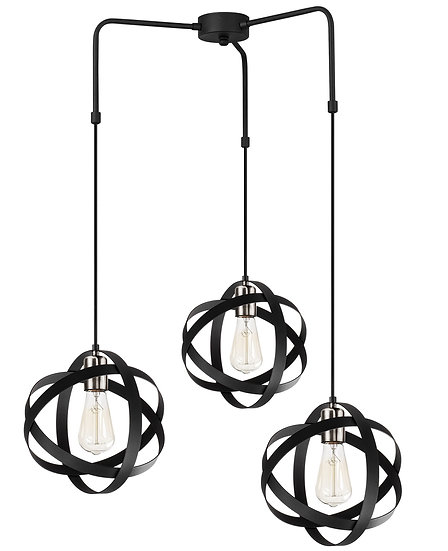 Suspension LED 'Guemps 6136'Megro/Nickel 3 xE27