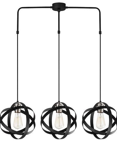Suspension LED 'Guemps'Noir 3 x E27