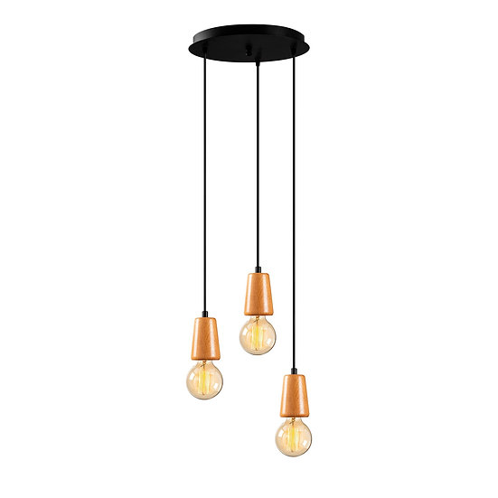 Suspension LED 'Estevelles' 942' Noir 3 xE27