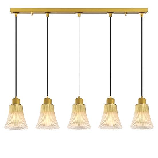 Suspension LED 'Etsaut'Or 5 x E27