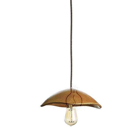 Suspension LED E27 'Auguaise' Rochey Papier RosaceCâble