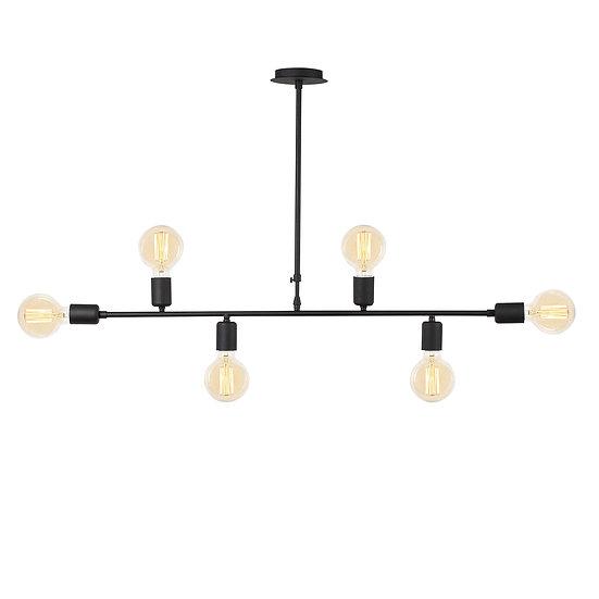Suspension LED 'Halsou 02'Noir 1 x E27