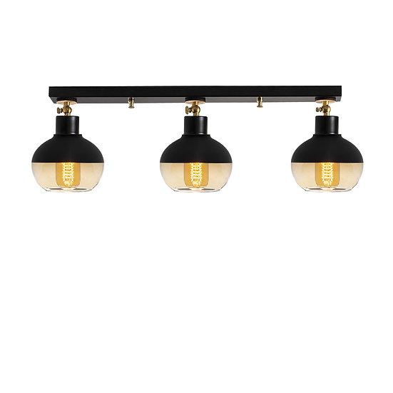 Suspension LED 'Géronce'Noir 3 x E27