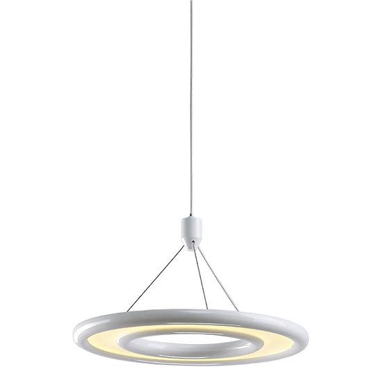 Suspension LED 'Estancarbon' LaquéBlanc 18W 750Lm 3000K