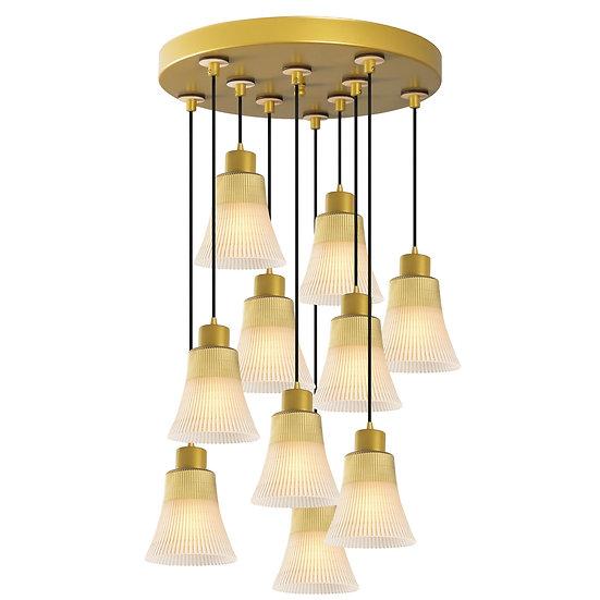 Suspension LED 'Etsaut'Or 10 x E27