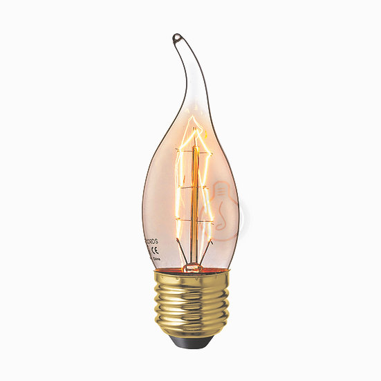 Ampoule E27 'Igoville' Filament Carbone ambre Dimmable Blanc Chaud