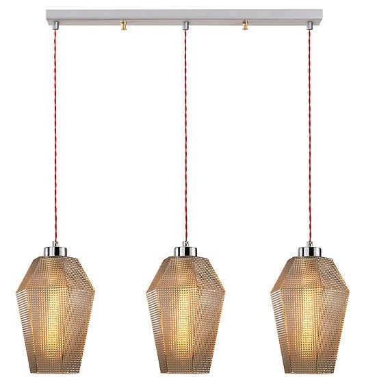 Suspension LED 'Guéthary'Argent 3 x E27