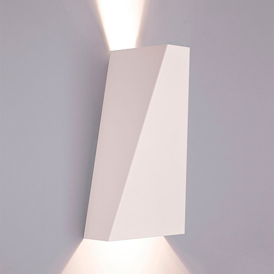 Applique Murale LED 'Antignac'Blanc 2 xGU10 Sans Ampoule