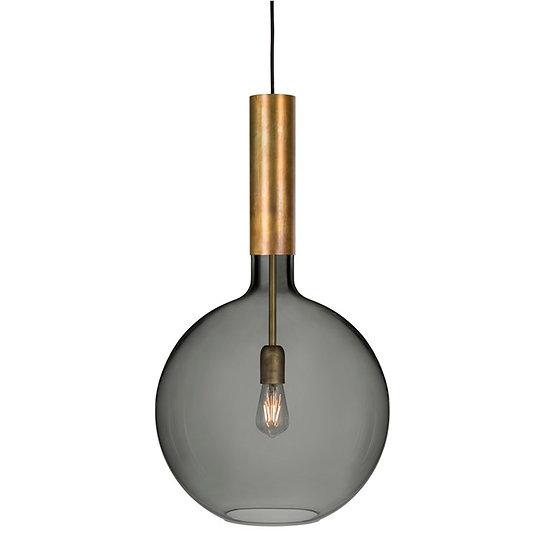 Suspension LED 'Ergny'Laiton/Enfumé 1 x E27