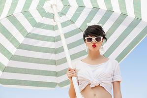 Modèle beachwear