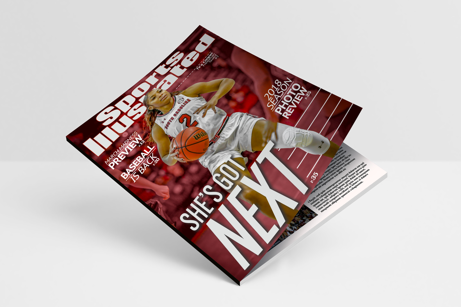 Sports Magazine Mock Up