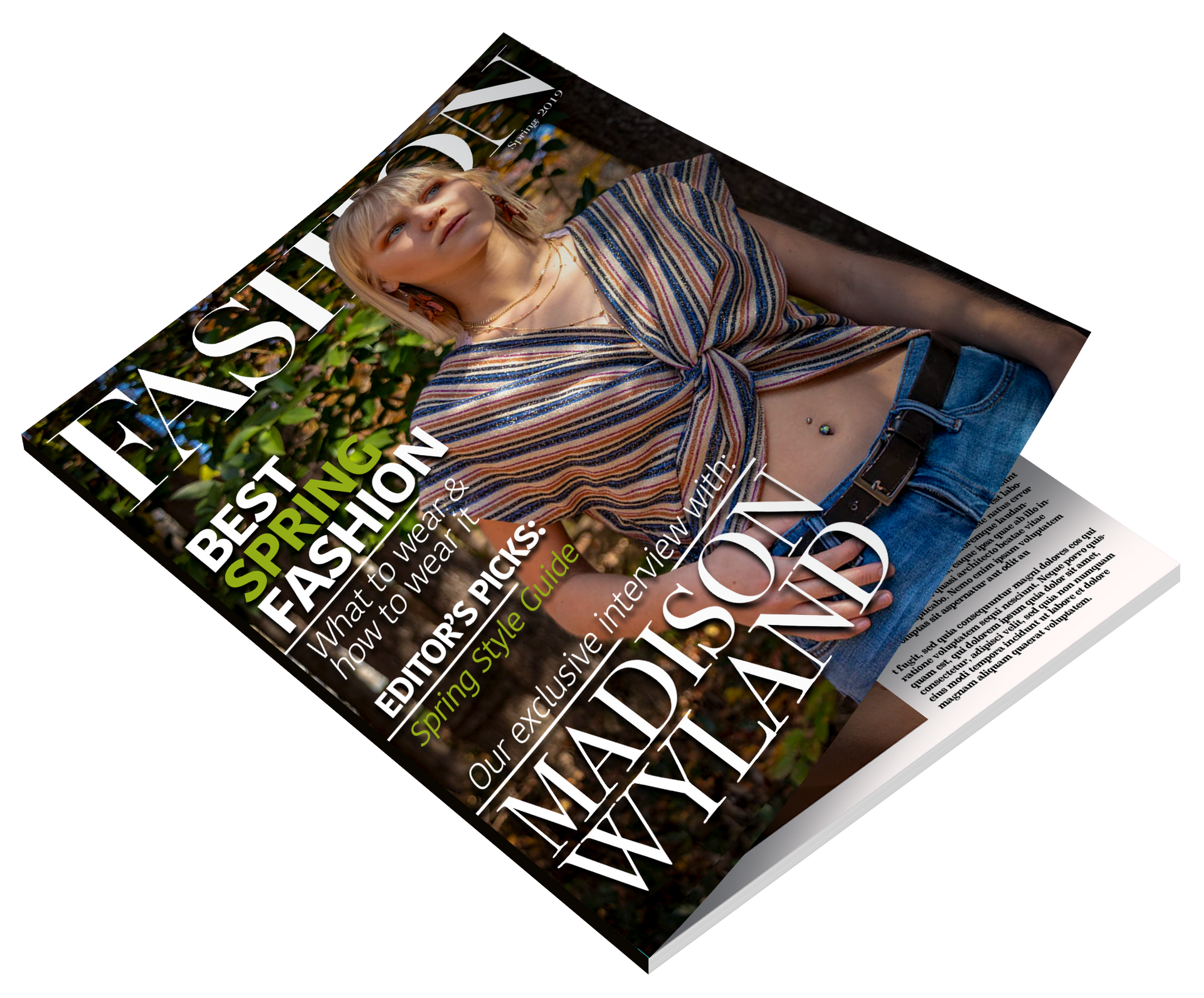 Fashion Magazine Mock Up