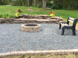 New fire pit and fellowship area