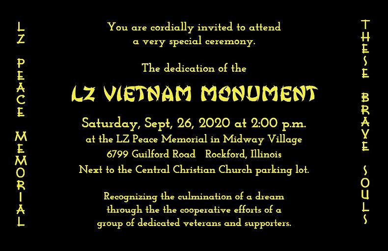 09-26-20 Gold Invitation LZ Vietnam Monu