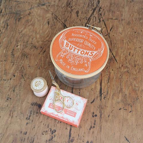 Orange Button Jar