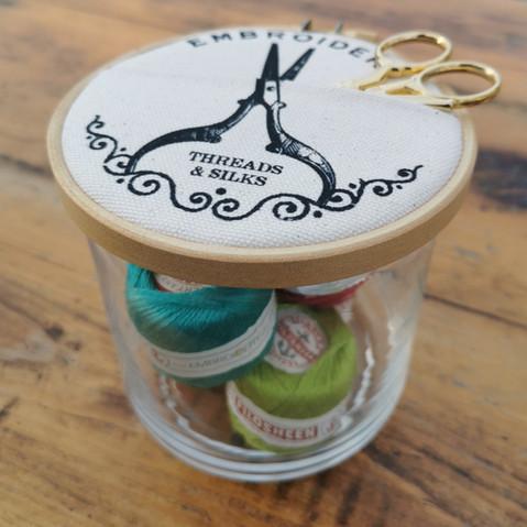 Embroidery Jar