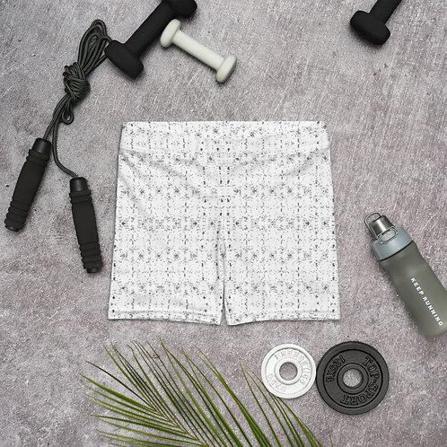 Lotus (Padma) Mudra Line Art Pattern Shorts