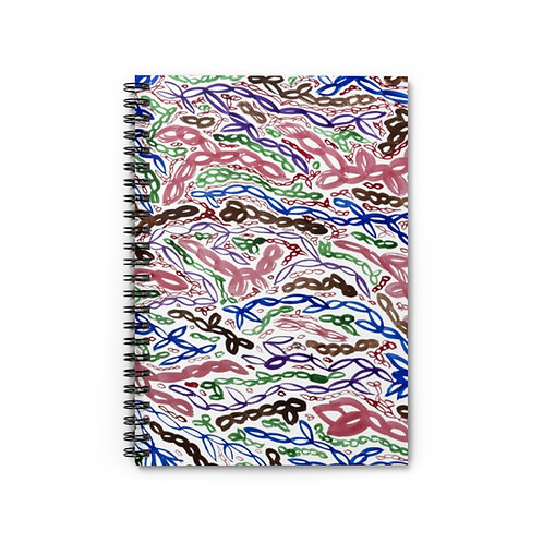 Colorful Abstract Art Pattern Spiral Notebook Ruled Line