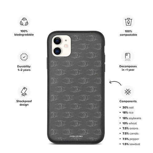 Ganesha Mudra Line Art  Pattern Biodegradable iPhone Case