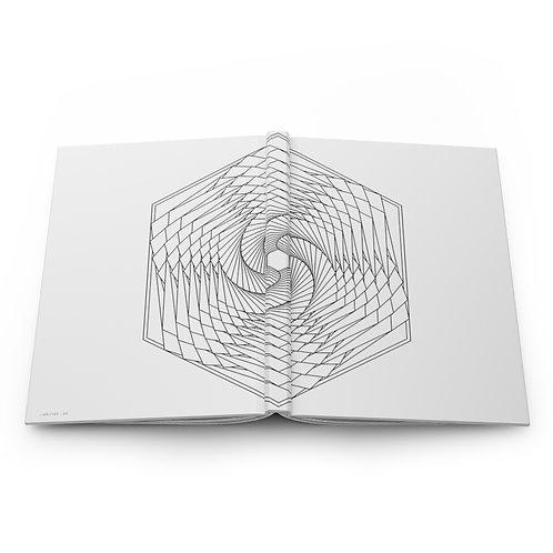 Spiraling Hexagon Sacred Geometry Hardcover Journal Matte