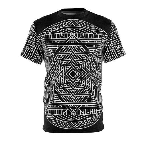 Infinite Mirror Sacred Geometry Mandala Quality Thick Microfiber Knit Tee