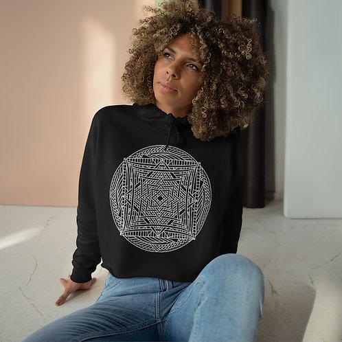 Infinite Mirror Sacred Geometry Mandala Crop Hoodie