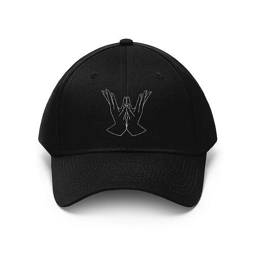 Lotus Mudra Embroidery Line Art Unisex Twill Hat