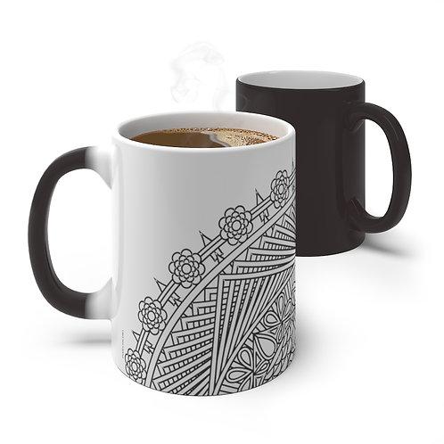The Pond Sacred Geometry Pattern Color Changing Mug