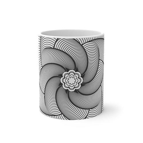 Helix Sacred Geometry Mandala Color Changing Mug