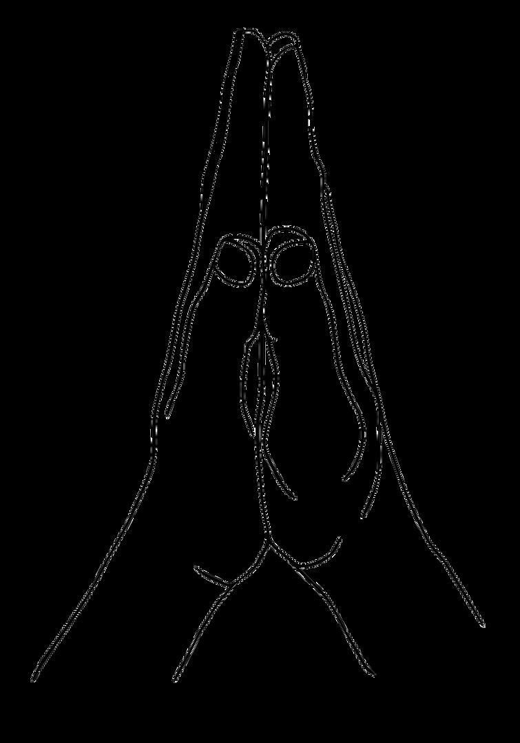 Anjali Yoga Mudra Line Art
