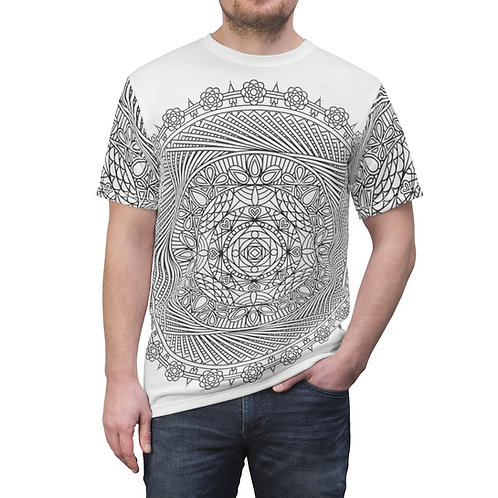 The Pond Sacred Geometry Mandala Quality Thick Microfiber Knit Tee